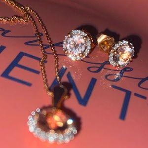 10 KT Rose Gold Diamond Morganite Jewelry